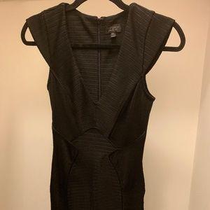 Black Topshop Ribbed Bodycon Dress